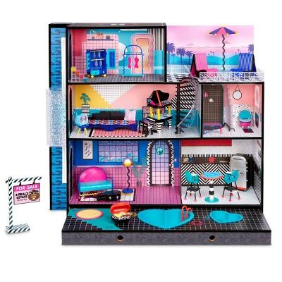 New L.O.L Surprise! O.M.G. House includes 85+ surprises and fits L.O.L. Surprise! dolls and fashion dolls.