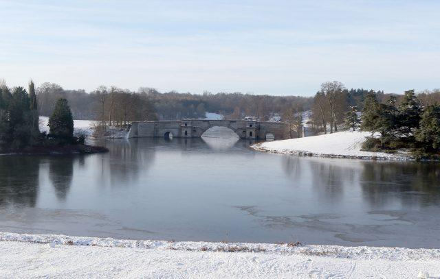 Snow continues to lay on the grounds of Blenheim Palace near Woodstock in Oxfordshire (Steve Parsons/PA)