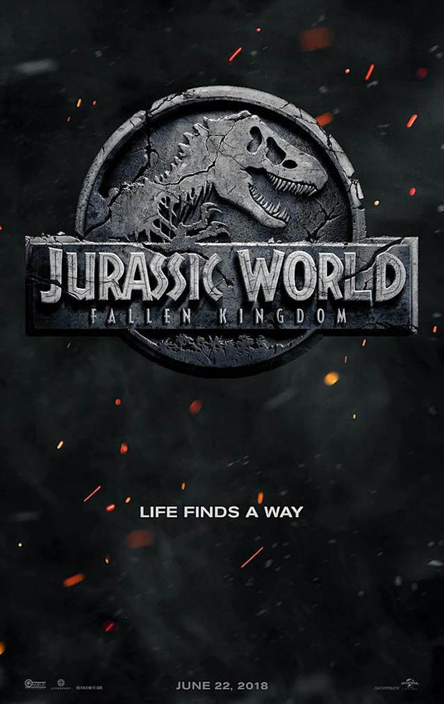<p>For what should be a sleek teaser announcing the upcoming <em>Jurassic World</em> sequel's title, this poster gets junked up with some poorly Photoshopped lava. At least it quotes Jeff Goldblum. </p>