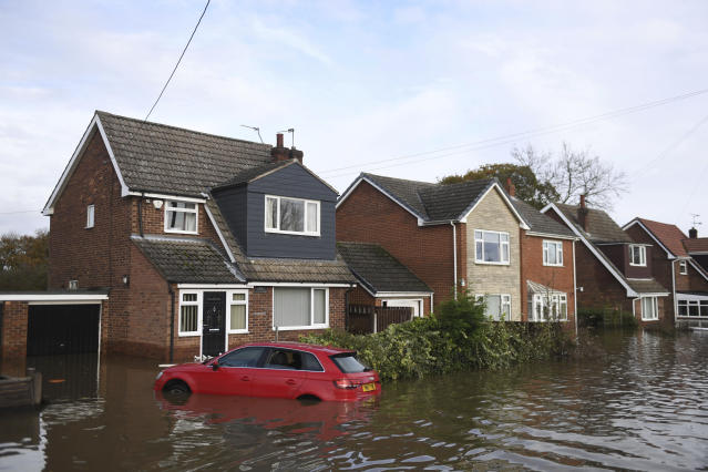 The deluge was described by residents in the worst-hit parts of Yorkshire as 'almost biblical' (AP)