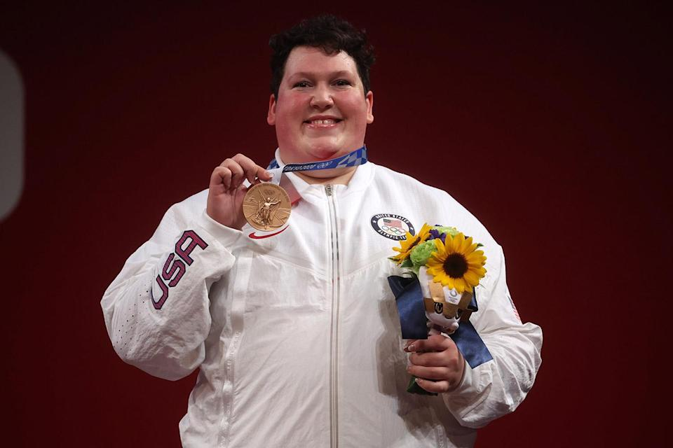 """<p>Biography: 33 years old</p> <p>Event: Women's +87kg weightlifting</p> <p>Quote: """"I've struggled a lot throughout my career, it almost feels like I've been going uphill both ways with the wind against me. Going from the bottom in the sport, to the top in the sport, to making history in this sport means a lot to me.""""</p>"""