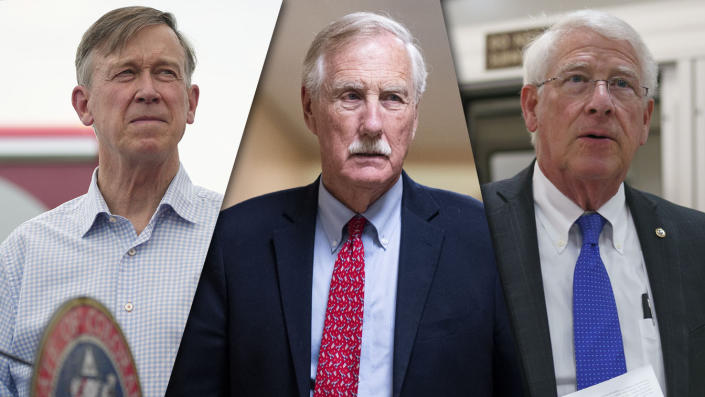 Sens. John Hickenlooper, D-Colo., Angus King, I-Maine, and Roger Wicker, R-Miss.