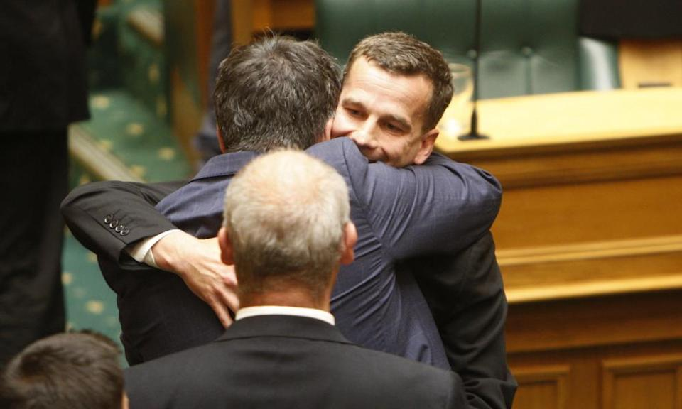 David Seymour after lawmakers voted in favour of the bill to legalise euthanasia in November last year