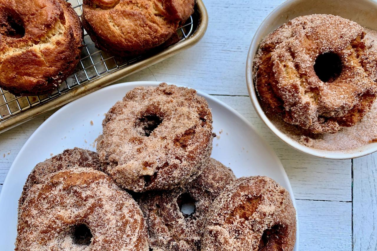 "<p><strong>Recipe: <a href=""https://www.southernliving.com/recipes/apple-cider-doughnuts"">Apple Cider Doughnuts</a></strong></p> <p>Start this treat-filled day with something sweet.</p>"