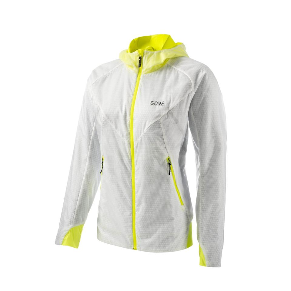 """<p>Price: £219.99</p><p><a class=""""body-btn-link"""" href=""""https://www.amazon.co.uk/GORE-WEAR-Insulated-GORE-TEX-INFINIUM/dp/B0881LNZJV?tag=hearstuk-yahoo-21&ascsubtag=%5Bartid%7C1936.g.34300431%5Bsrc%7Cyahoo-uk"""" target=""""_blank"""">Shop now, men's </a></p><p><a class=""""body-btn-link"""" href=""""https://www.amazon.co.uk/GORE-WEAR-Infinium-Insulated-Hibiscus/dp/B000KDVY7A/ref=sr_1_2?dchild=1&keywords=Gore+Wear+R5+Goretex+Infinium+Insulated&qid=1602082620&sr=8-2&tag=hearstuk-yahoo-21&ascsubtag=%5Bartid%7C1936.g.34300431%5Bsrc%7Cyahoo-uk"""" target=""""_blank"""">Shop now, women's </a></p><p>We found it hard to fault this jacket, with its magic mix of low weight and insulation. Not a drop of rain seeped through its water-resistant fabric, seams and zips, and it felt soft and comfortable against our skin. It kept us warm while standing around coaching, as well as running, and we liked the two big hand pockets. </p><p>It fit perfectly, offering non-clingy breathability without erring on the baggy side. It has adjustable toggles, but it came up true to size, so we didn't need these. It's easy to take off and on on the run thanks to a strong zip that glides up and down without catching. High-res neon accents make it for safe road running (though more would be welcome) and we liked the long sleeves and close-fitting hood. There was no annoying rustling or flapping about when the wind picked up, either. There was no shrinkage or wrinkling after a machine wash, but it did take six hours to air dry, as it's fairly thick. Though pricey, this jacket is undeniably a worthy investment. </p><p>It won the following glowing review from one tester: 'I'm in love with this jacket and will wear it till it falls off me.' Given the quality, we're not sure it ever will.</p><p>Our score: 10/10 </p>"""