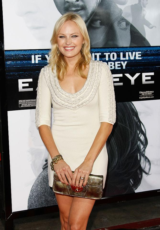 "<a href=""http://movies.yahoo.com/movie/contributor/1808422842"">Malin Akerman</a> at the Los Angeles premiere of <a href=""http://movies.yahoo.com/movie/1809955918/info"">Eagle Eye</a> - 09/16/2008"