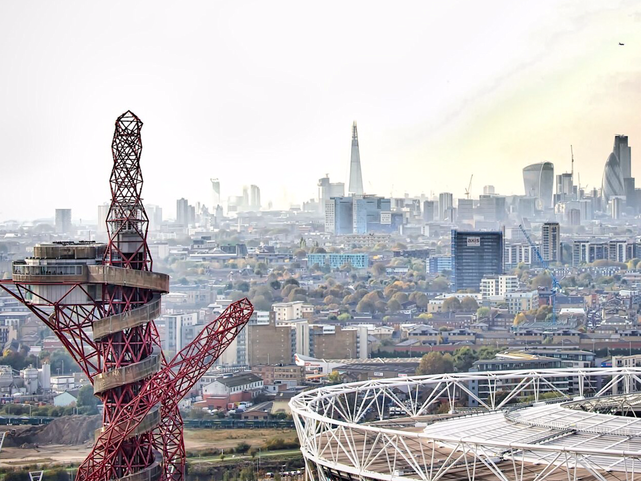 Time-lapse footage shows the rapid development of high-rise buildings around London's Olympic Park since 2014