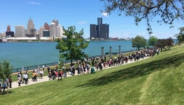The Walk for Justice last year on Windsor's Riverfront brought out hundreds of people.