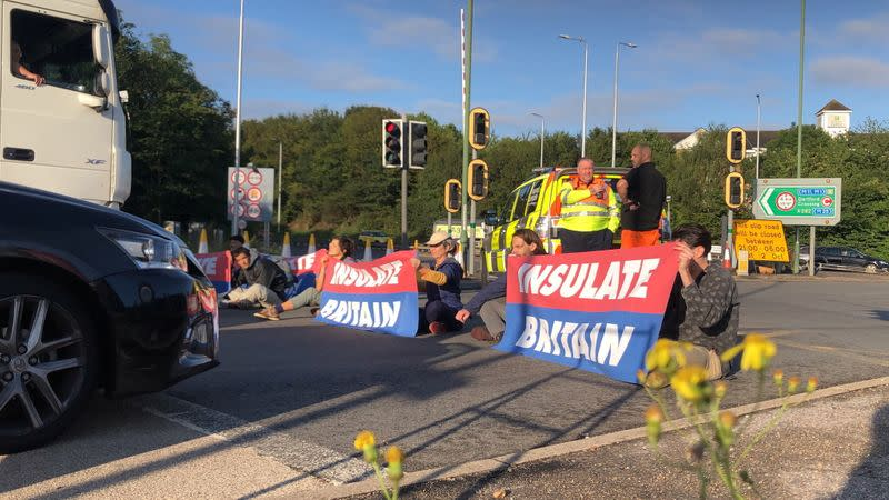 Protest of Insulate Britain on M25 Motorway