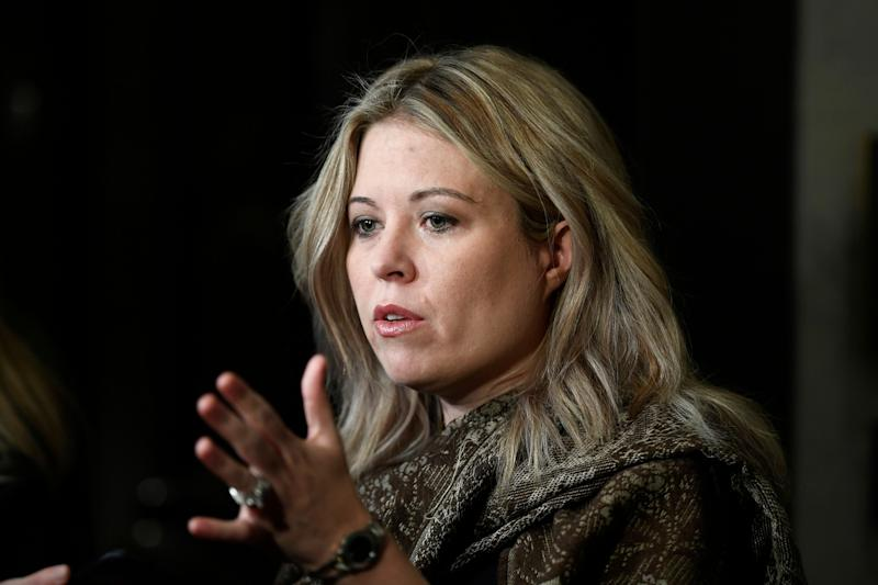 Conservative MP Michelle Rempel Garner speaks to reporters as she arrives for a Conservative caucus retreat on Parliament Hill in Ottaw on Jan. 24, 2020. (Photo: Justin Tang/CP)