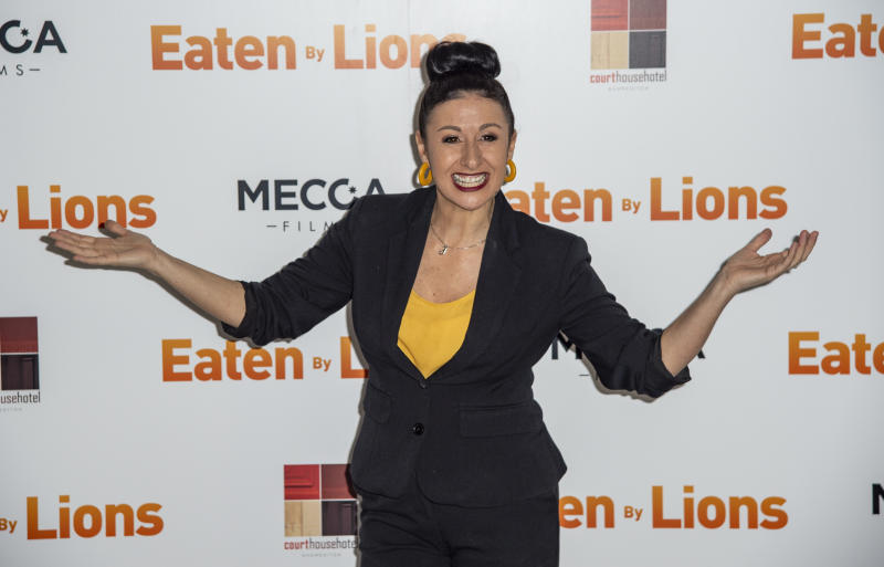 LONDON, UNITED KINGDOM - 2019/03/26: Hayley Tamaddon attends the Eaten By Lions film premiere. (Photo by Gary Mitchell/SOPA Images/LightRocket via Getty Images)