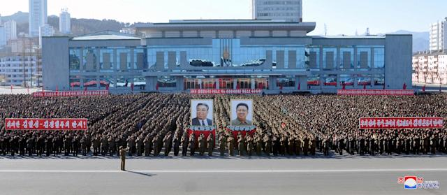 <p>A view of a rally celebrating North Korea's progress in their nuclear and missile programme in this undated photo released by North Korea's Korean Central News Agency (KCNA) in Pyongyang December 6, 2017. KCNA/via REUTERS ATTENTION EDITORS – THIS PICTURE WAS PROVIDED BY A THIRD PARTY. REUTERS IS UNABLE TO INDEPENDENTLY VERIFY THE AUTHENTICITY, CONTENT, LOCATION OR DATE OF THIS IMAGE. NO THIRD PARTY SALES. SOUTH KOREA OUT. </p>