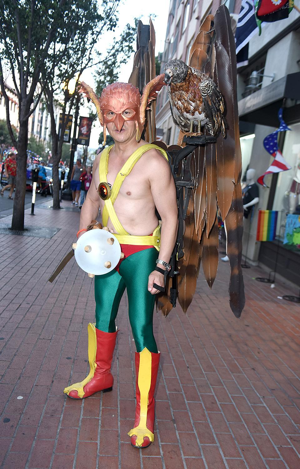 <p>Cosplayer dressed as Hawkman at 2018 Comic-Con International on July 20, 2018, in San Diego. (Photo: Vivien Killilea/Getty Images) </p>
