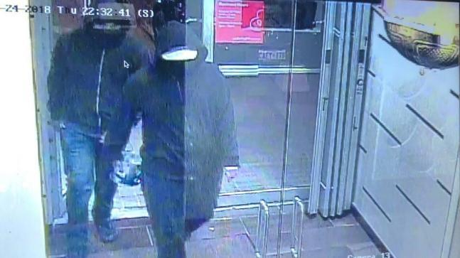 The police have released CCTV footage of two male suspects in the Bombay Bhel restaurant blast case in Canada.