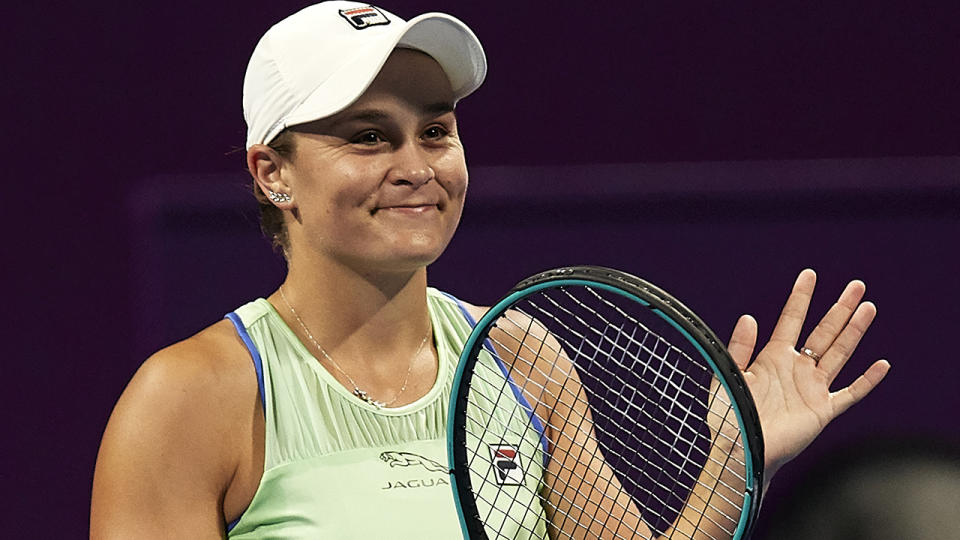 Ash Barty's coach Craig Tyzzer says he's expected to see a new and improved player during the Australian Open. (Photo by Quality Sport Images/Getty Images)