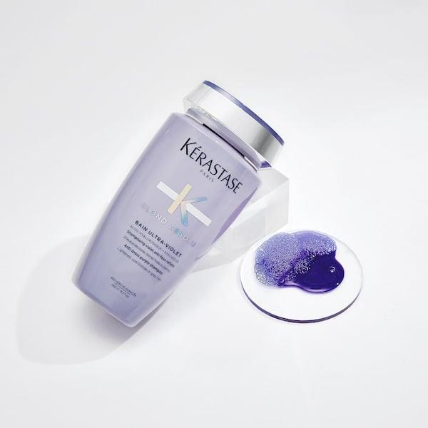 <p>The <span>Kérastase Blond Absolu Anti-Brass Purple Shampoo</span> ($35) has hyaluronic acid, which softens and moisturizes your hair to keep it healthy.</p>