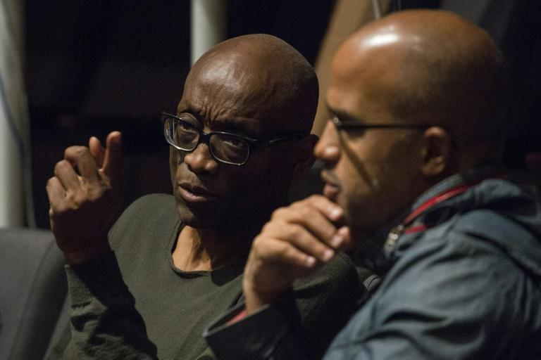 Choreographer Bill T. Jones, left, watches a rehearsal of 'We Shall Not Be Moved' with composer Daniel Bernard Roumain