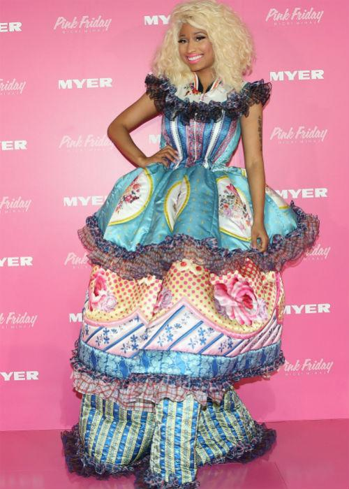<b>Nicki Minaj:</b> Every fashion list would be incomplete without a Nicki Minaj mention, right? This is what she wore to celebrate the launch of her new perfume at Myer Sydney City on November 29, 2012 in Sydney, Australia. Speechless, yes?