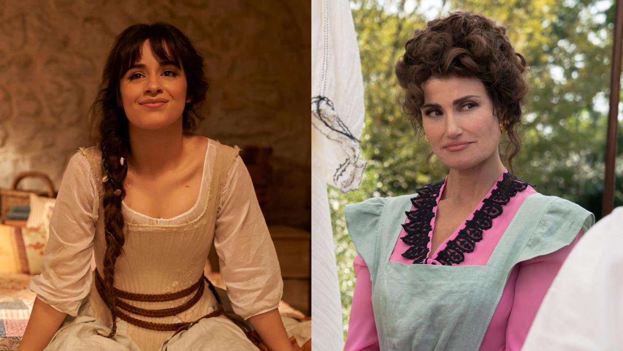Camila Cabello says she feels 'lucky' to have made her screen debut with 'Cinderella', alongside Idina Menzel. (Kerry Brown/Christopher Raphael/Amazon)