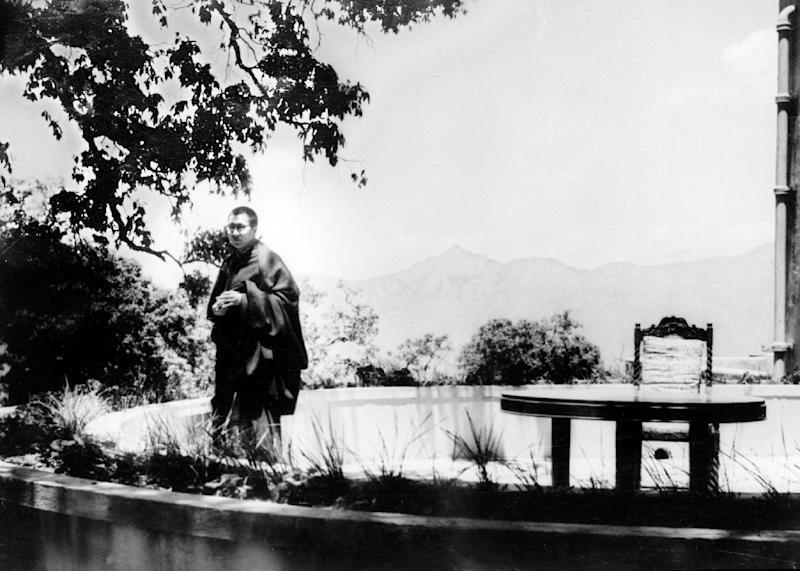 The Dalai Lama pictured on May 22, 1959, in the garden of his residence in Mussorie, India, where he is in asylum after fleeing Chinese repression in Tibet (AFP Photo/-)
