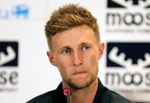 England cricket captain Joe Root looks on during a news conference ahead of the two test cricket matches against Sri Lanka for the ICC World Test Championship in Colombo