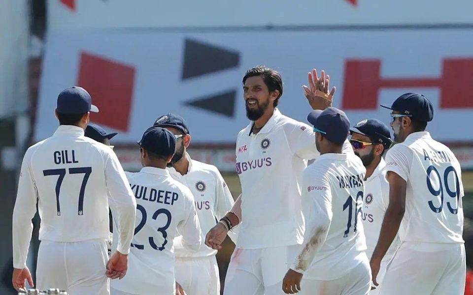 Ishant Sharma took two wickets in England first innings (Credit: BCCI)