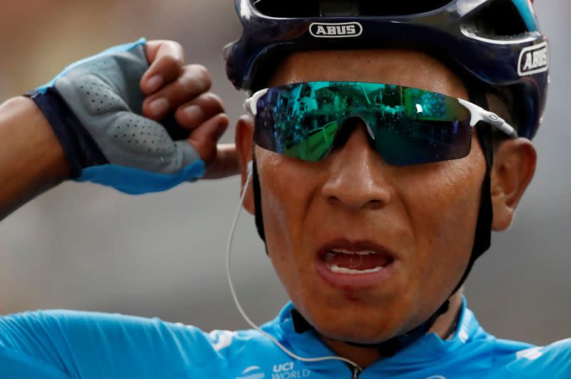 Cycling - Quintana escapes serious injury after being hit by car