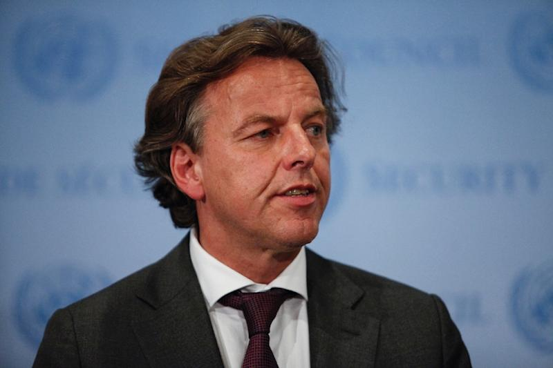 "Dutch Foreign Minister Bert Koenders, pictured on July 29, 2015, said the Netherlands will consider a US request to take in two detainees from Guantanamo Bay once Washington has taken ""meaningful steps"" to close the jail (AFP Photo/Kena Betancur)"