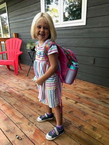 PHOTO: 5-year-old Felicity Moore on her first day of kindergarten. (Carolyn Moore)
