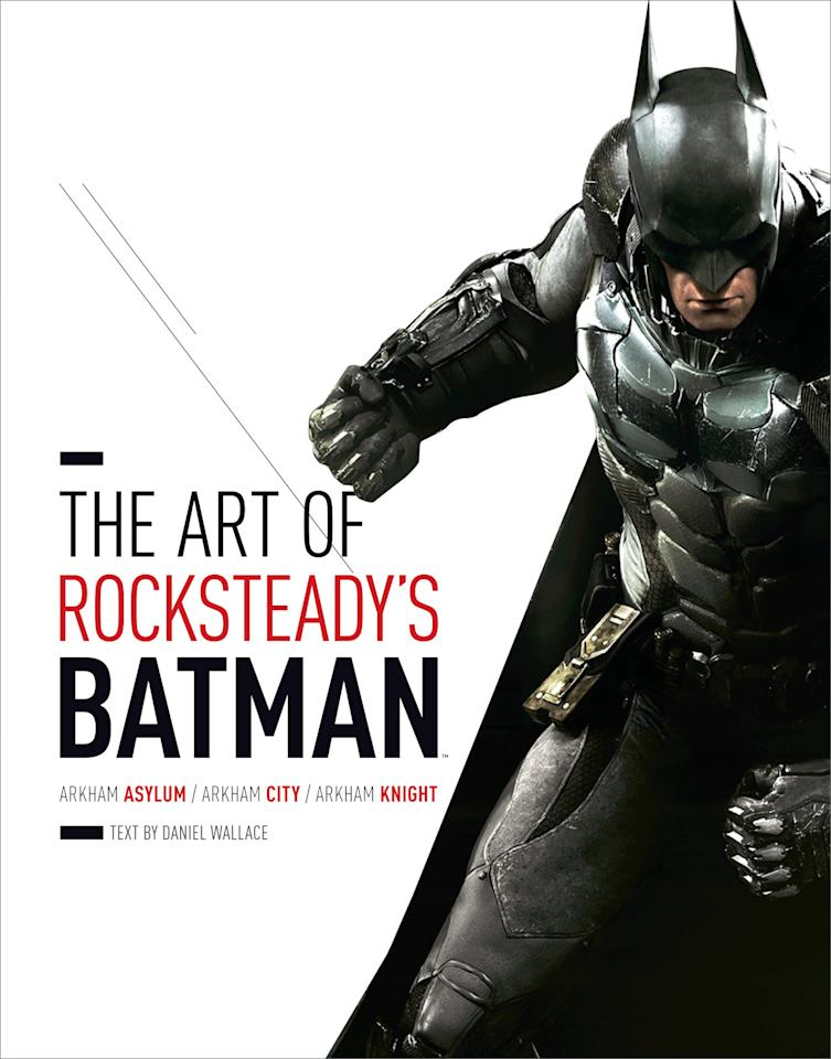 "<p>The Dark Knight lives up to his name in the battle-scarred, amored Batsuit featured on the cover of ""Art of Rocksteady's Batman: Arkham Asylum, Arkham City & Arkham Knight.""</p>"