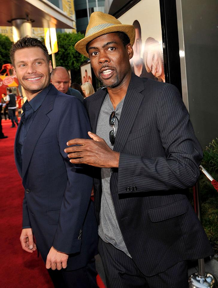 """Ryan Seacrest and <a href=""""http://movies.yahoo.com/movie/contributor/1800019115"""">Chris Rock</a> at the Los Angeles premiere of <a href=""""http://movies.yahoo.com/movie/1810041785/info"""">Funny People</a> - 07/20/2009"""