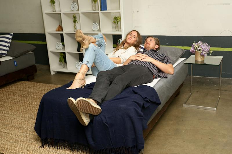 WEST HOLLYWOOD, CA - JULY 09: Guests check out the Casper mattresses during Casper's LA celebration at Blind Dragon on July 9, 2015 in West Hollywood, California. (Photo by Rachel Murray/Getty Images for Casper Sleep Inc.)