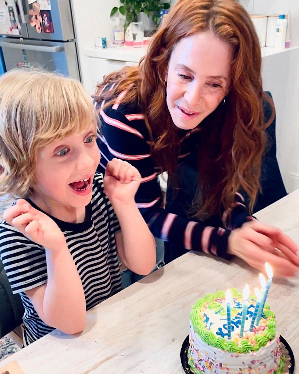 "<p>Amy Davidson's son <a href=""https://people.com/parents/amy-davidson-welcomes-son-lennox-sawyer/"" rel=""nofollow noopener"" target=""_blank"" data-ylk=""slk:Lennox Sawyer"" class=""link rapid-noclick-resp"">Lennox Sawyer</a> turned 5 on March 1.</p>"