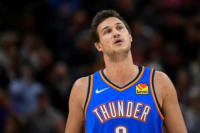 Italian forward Danilo Gallinari of the Oklahoma City Thunder says the NBA must stress safety when pondering plans to resume the 2019-20 season halted by the coronavirus pandemic (AFP Photo/Alex Goodlett)