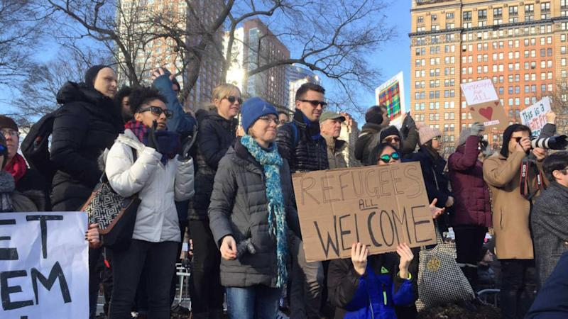 For a third day in a row, protests are expected against President Trump's travel ban preventing people from seven predominantly-Muslim countries from entering the United States.