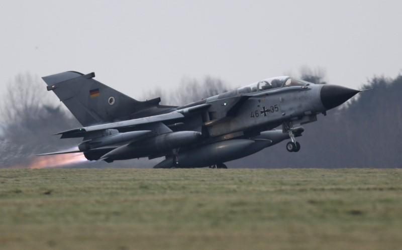 FILE PHOTO - A German air force Tornado jet takes off from the German army Bundeswehr airbase in Jagel