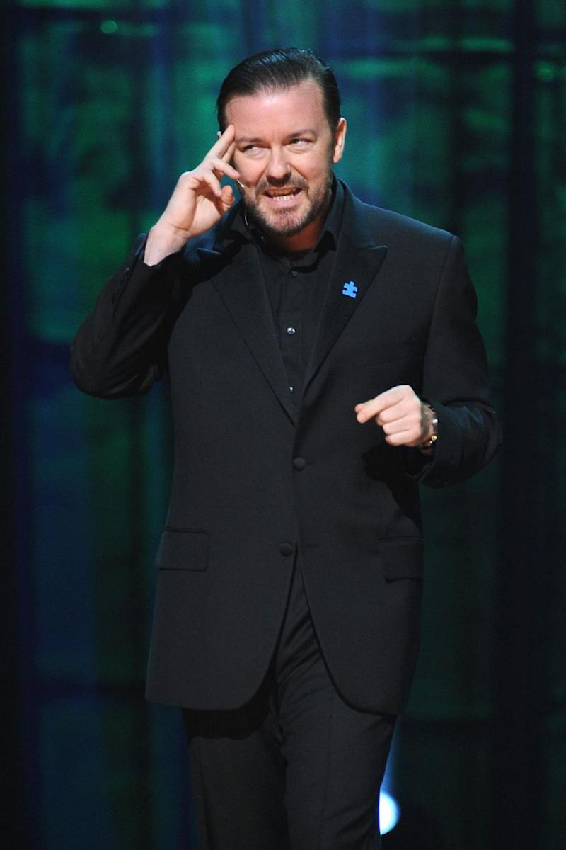 Stand-up: Ricky Gervais on stage (Jason Kempin/Getty Images)