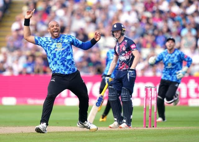 Tymal Mills was expensive but took three wickets for Sussex