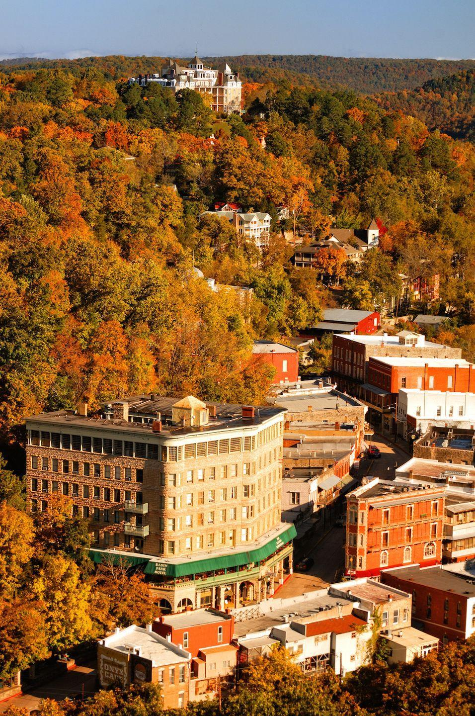 """<p>To live in <a href=""""http://www.eurekaspringsonline.com/"""" rel=""""nofollow noopener"""" target=""""_blank"""" data-ylk=""""slk:Eureka Springs"""" class=""""link rapid-noclick-resp"""">Eureka Springs</a> is to be surrounded by natural beauty 24-7. Even the town's most famous place of worship, the <a href=""""http://www.thorncrown.com/"""" rel=""""nofollow noopener"""" target=""""_blank"""" data-ylk=""""slk:Thorncrown Chapel"""" class=""""link rapid-noclick-resp"""">Thorncrown Chapel</a>, ensures that you can still take in the gorgeous Ozark mountains scenery via 6,000-square-feet of windows. </p><p><a href=""""https://www.housebeautiful.com/room-decorating/g1494/rooms-with-great-views/"""" rel=""""nofollow noopener"""" target=""""_blank"""" data-ylk=""""slk:18 rooms with breathtaking views »"""" class=""""link rapid-noclick-resp""""><em>18 rooms with breathtaking views »</em></a></p>"""