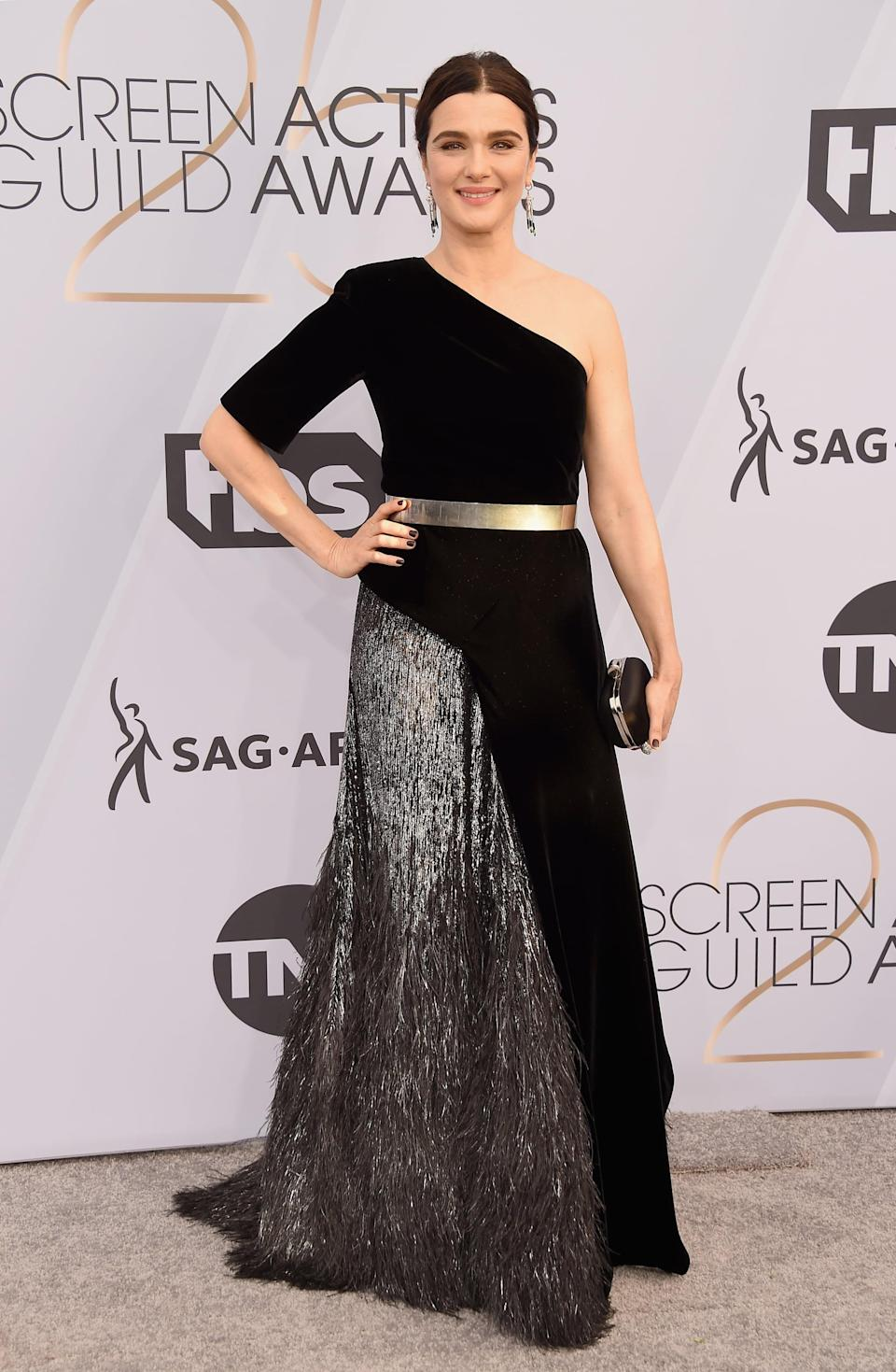 <p>Wearing Givenchy Haute Couture with Cartier jewels.</p>