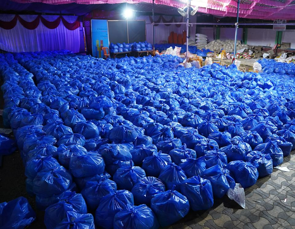 Blue packets of hope