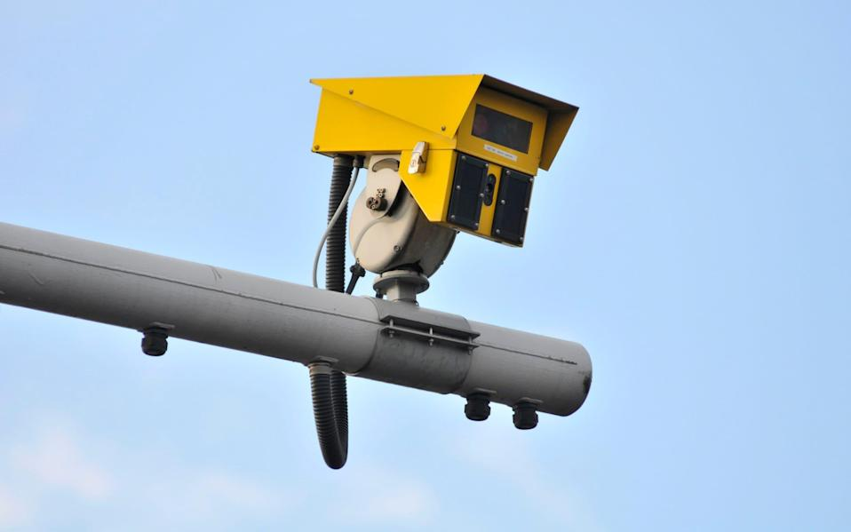 A general view of an average speed camera on the A13 at Canning Town flyover - John Keeble/Getty Images