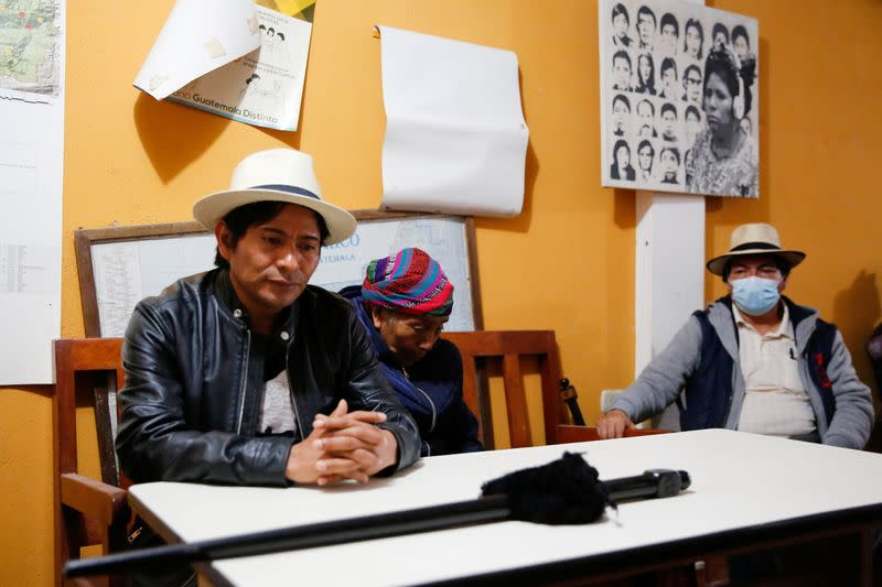 Indigenous leaders meet after local authorities prevent exhumation at site where children are believed to be buried, in Nebaj