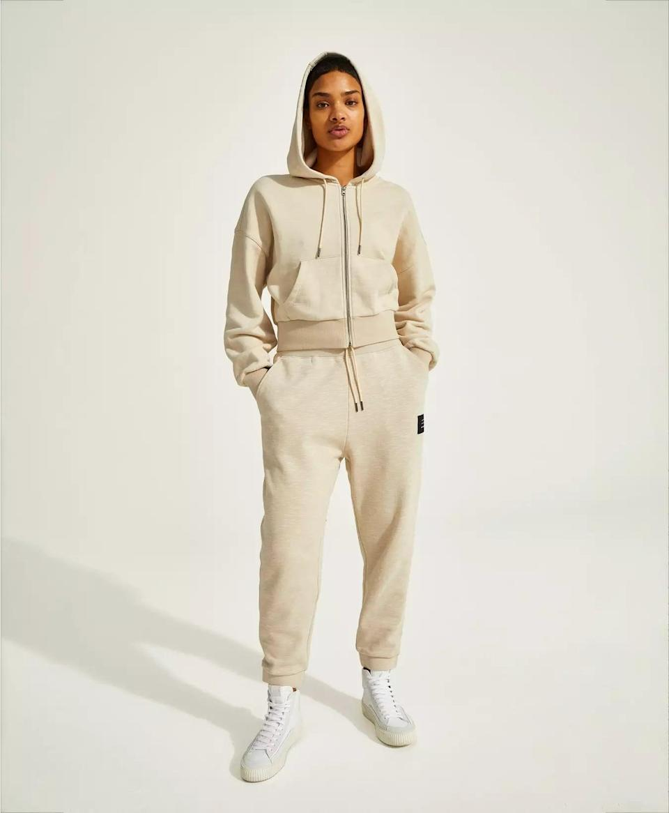 <p>Meet the ultimate sweatsuit, the <span>Halle Berry x Sweaty Betty Ginger Essentials Hoodie</span> ($98) and <span>Halle Berry x Sweaty Betty Ginger Essentials Jogger</span> ($88).</p>