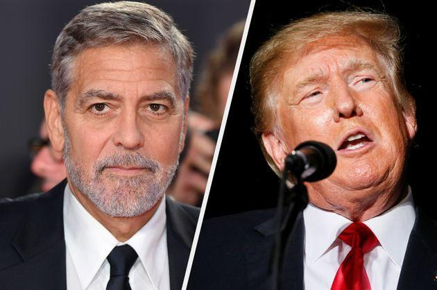 George Clooney and Donald Trump (Photo: Getty)