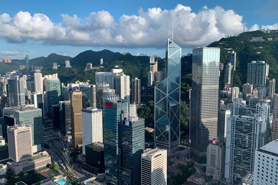 A general view of the financial Central district in Hong Kong on July 25, 2019. Photo: Reuters