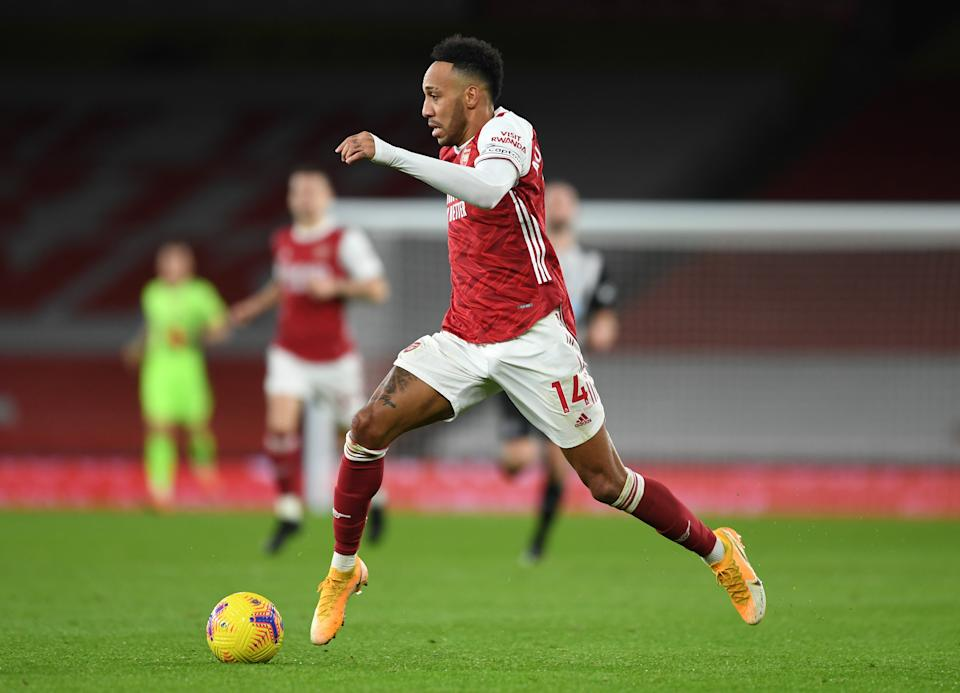 Pierre-Emerick Aubameyang is not fit for the game at St Mary's (Getty)
