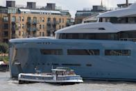 <p>Big build: The Aviva superyacht was made in Germany and took three years to construct. (WENN) </p>