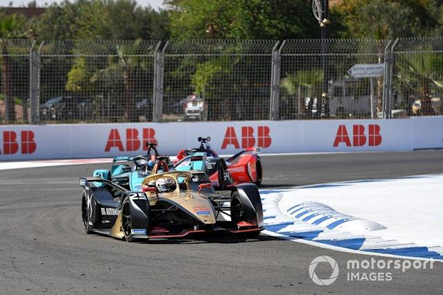"Jean-Eric Vergne, DS Techeetah, DS E-Tense FE20 James Calado, Jaguar Racing, Jaguar I-Type 4, Jérôme d'Ambrosio, Mahindra Racing, M6Electro <span class=""copyright"">Simon Galloway / Motorsport Images</span>"
