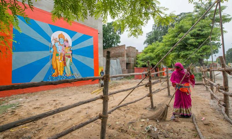 Preparations underway in Ayodhya ahead of the foundation stone-laying ceremony of the Ram Temple